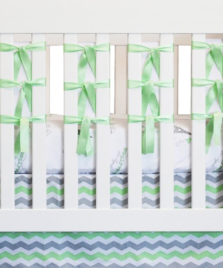 Mint City of Dreams Crib Bedding Set