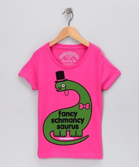 Hot Pink 'Fancy Schmancy' Tee - Toddler & Girls