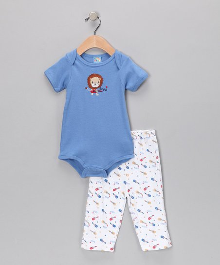 Blue Lion Bodysuit & Pants - Infant