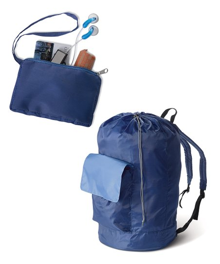 Navy & Gray Laundry Pack & Coin Pouch