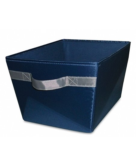 Navy &amp; Gray Storage Bin