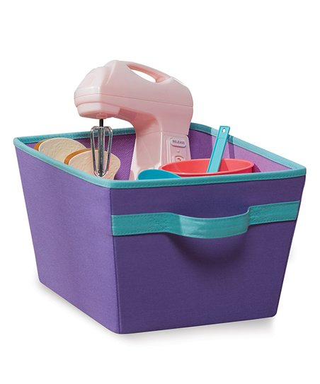 Purple &amp; Turquoise Storage Bin