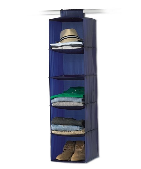 Navy & Gray Five-Shelf Hanging Organizer