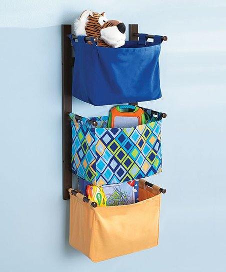 Navy & Orange Storage Tower Set