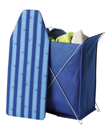 Blue Stripe Laundry Hamper & Ironing Board