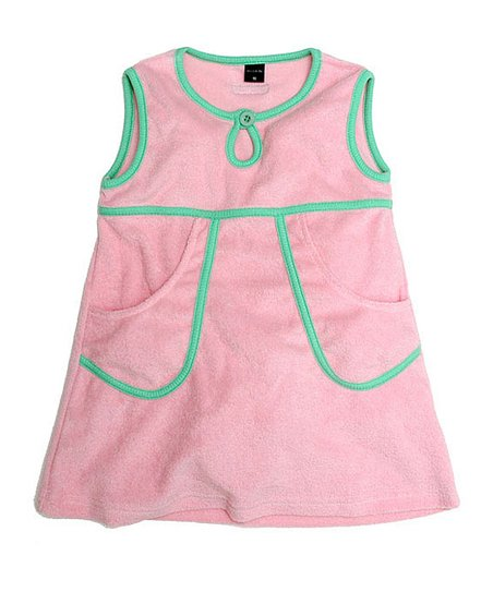 Soft Pink Velour A-Line Dress - Infant, Toddler &amp; Girls