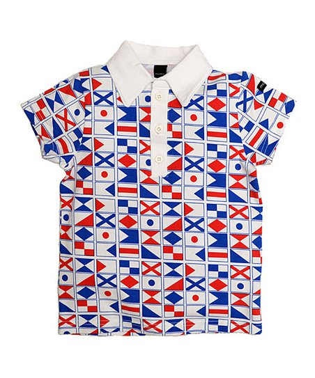 White Flag Polo - Toddler &amp; Boys