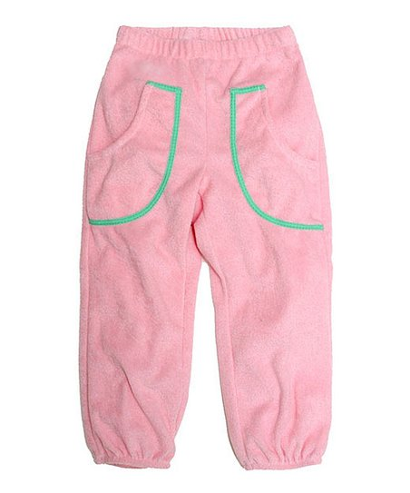 Soft Pink Velour Pocket Pants - Toddler & Kids