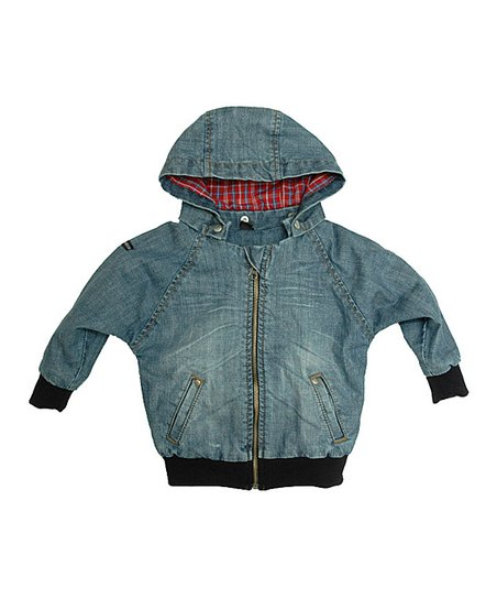 Denim Plaid Jacket - Infant