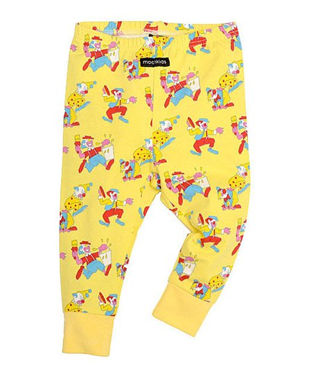 Yellow Clown Leggings - Infant & Toddler