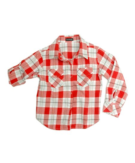 Red Flannel Button-Up - Infant, Toddler & Boys