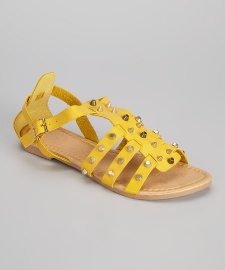 Yellow Studded Darlene Sandal