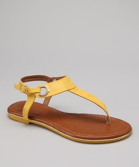Yellow Nelly T-Strap Sandal