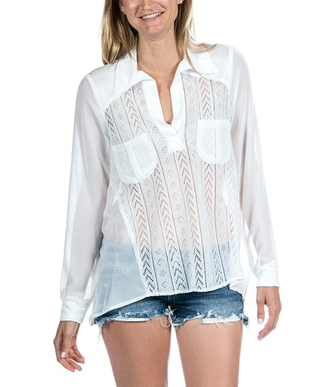 White Sheer Panel Top