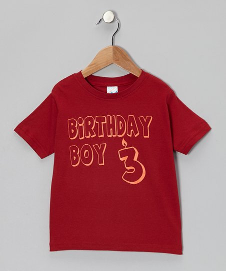 Garnet 'Birthday Boy 3' Tee - Toddler & Boys