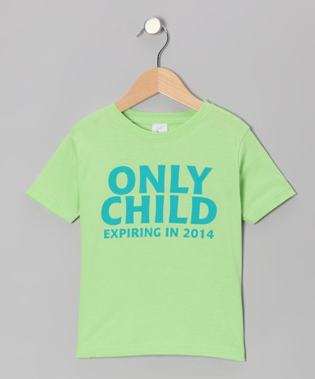 Key Lime 'Only Child' Tee - Infant, Toddler & Boys
