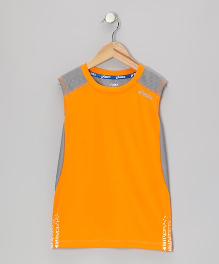 Orange Performance Practice Tank - Boys