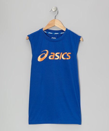 Blue Performance Training Muscle Tank - Boys