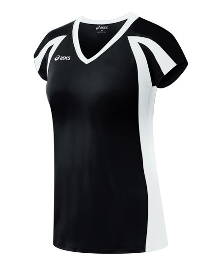 Black & White Domain Jersey Top - Women