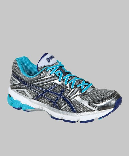 Titanium & Turquoise GT-1000 GS Running Shoe - Girls