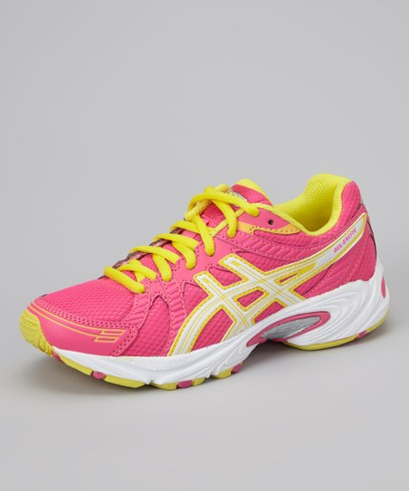 Hot Pink & Sun Yellow GEL-Excite GS Running Shoe - Girls