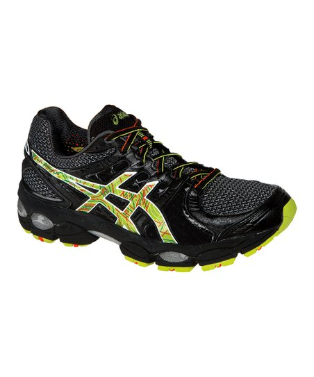 Black & Neon Orange GEL®-Nimbus14 Running Shoe - Men