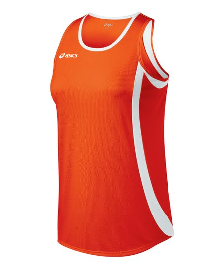 Orange & White Intensity Tank - Women