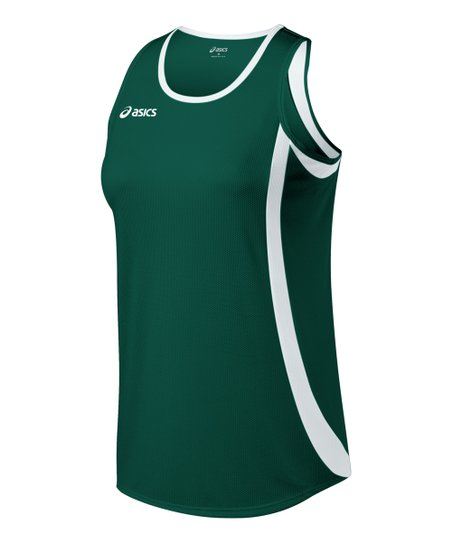 Forest Green & White Intensity Tank - Women