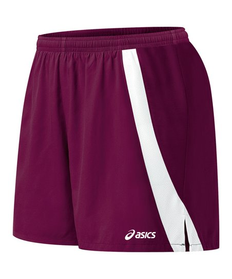 Maroon & White Intensity Shorts - Women