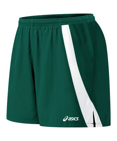 Forest Green & White Intensity Shorts - Women