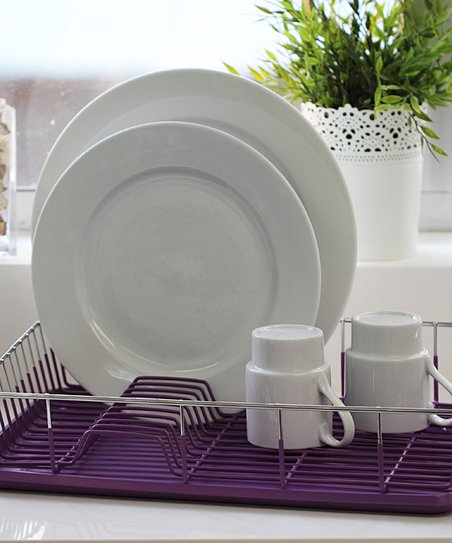 Purple Dish Drainer Set