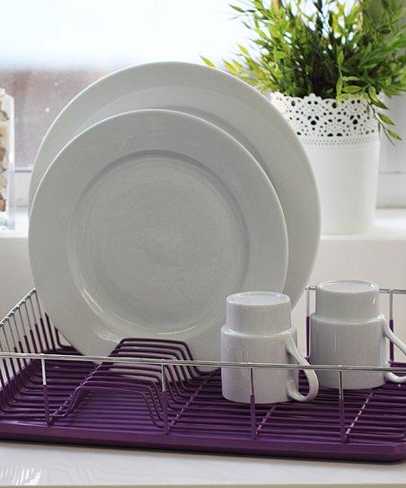 Purple Dish Drainer Set