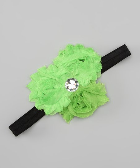 Lime Rosette Trio Headband