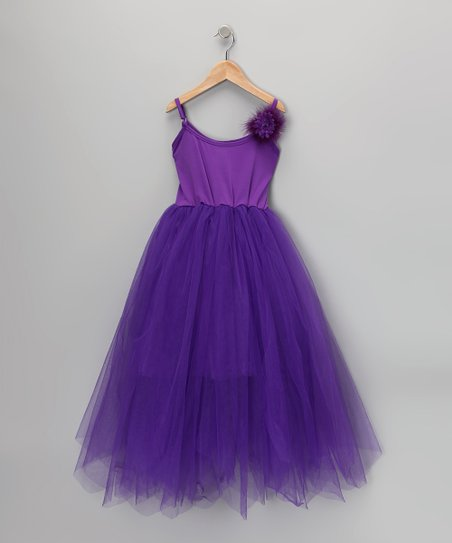 Purple Ruffle Dress - Girls