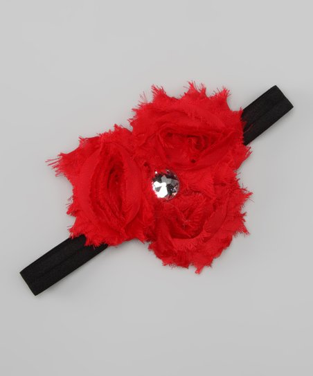 Red Rosette Trio Headband