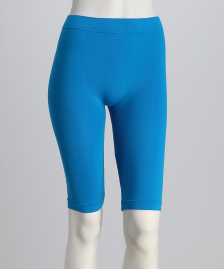 Turquoise Bike Shorts Set - Women