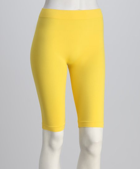 Yellow Bike Shorts Set - Women