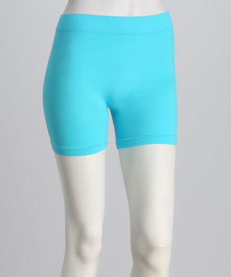 Aqua Elastic Shorts Set