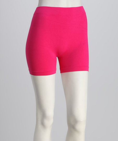 Fuchsia Elastic Shorts Set