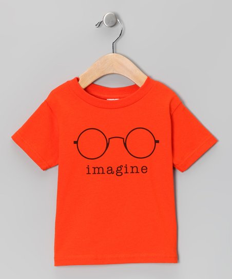 Orange &#039;Imagine&#039; Tee - Toddler &amp; Kids