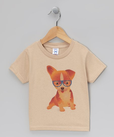 Khaki Puppy Tee - Toddler & Kids