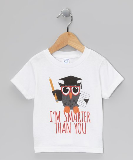 White 'Smarter Than You' Tee - Toddler & Kids