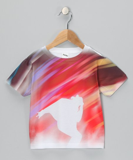 White Dance Back Sublimated Tee - Toddler & Kids