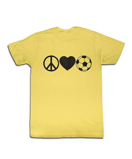 Banana Peace Love Soccer Tee - Toddler & Kids