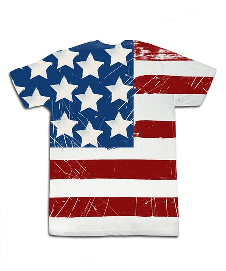 White American Flag Sublimation Tee - Toddler & Kids