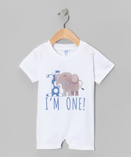 White 'I'm One!' Romper - Infant