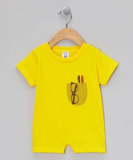 Yellow Pocket Protector Romper - Infant