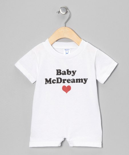 White 'Baby McDreamy' Romper - Infant