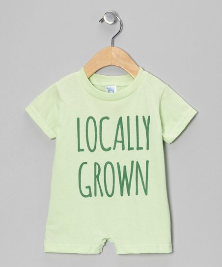 Mint 'Locally Grown' Romper - Infant