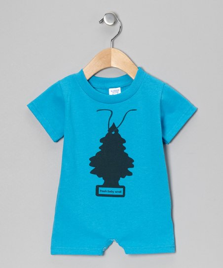Blue 'Fresh Baby Smell' Romper